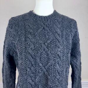 J. CREW Gray Oversized Chunky Sweater Size Large